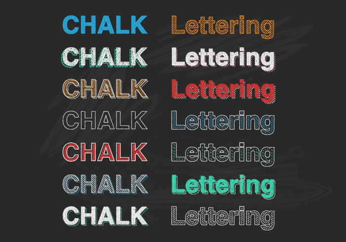 Chalk Lettering PSD
