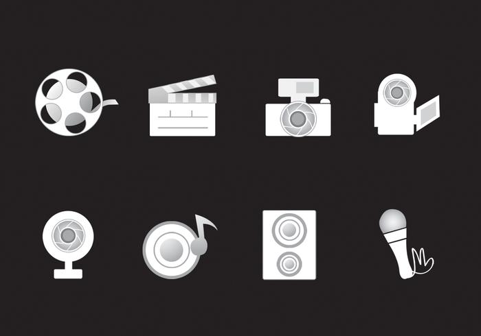 Icônes des médias PSD Pack