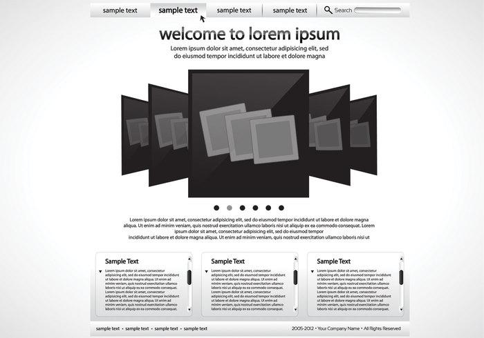 Sleek Black and White Website PSD Vorlage