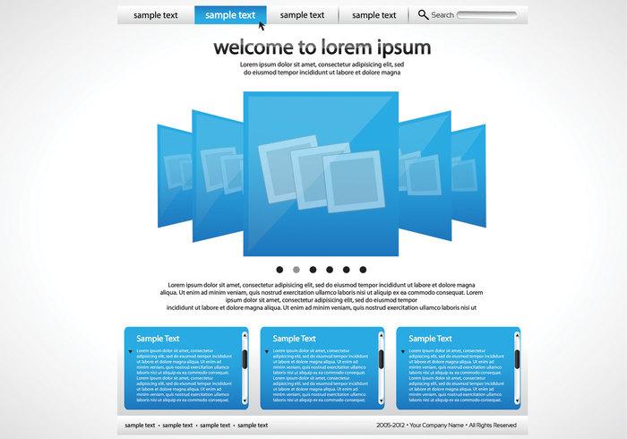 Einfache blaue und weiße Website PSD Vorlage