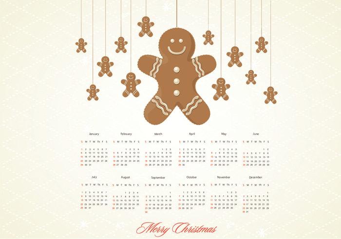 Gingerbread Calendar PSD