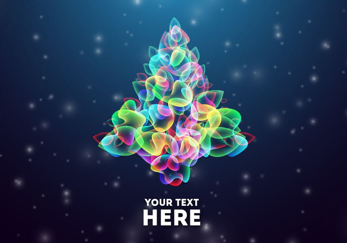 Glowing Abstract Christmas Tree PSD