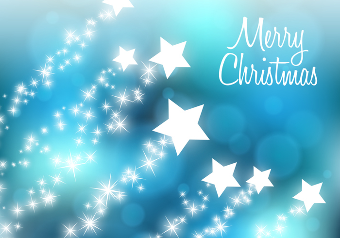 Star Filled Christmas PSD Background