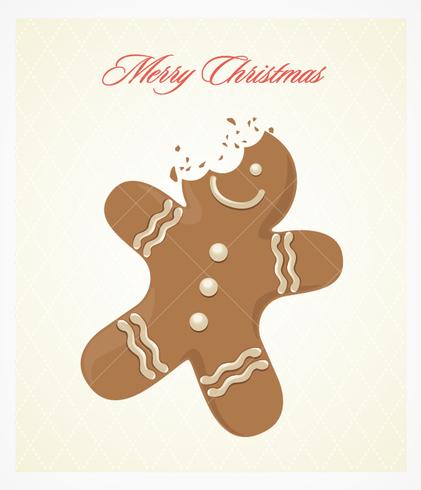Bitten Gingerbread PSD Background