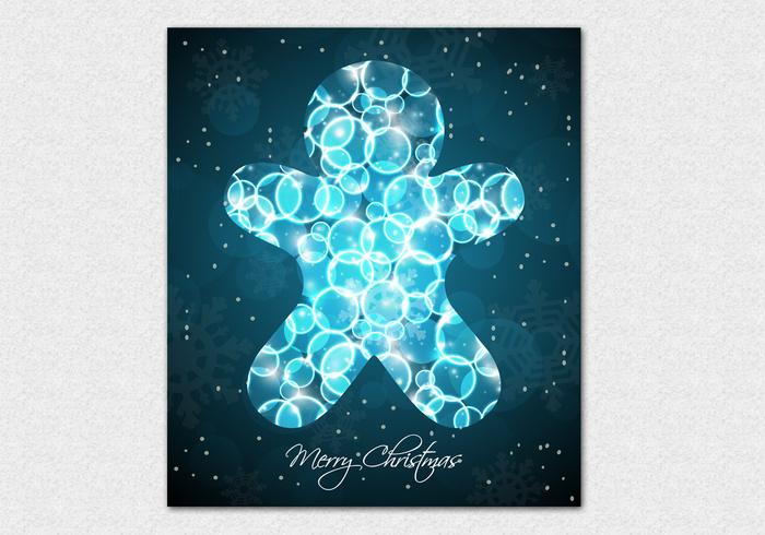Bokeh Gingerbread Cookie Background