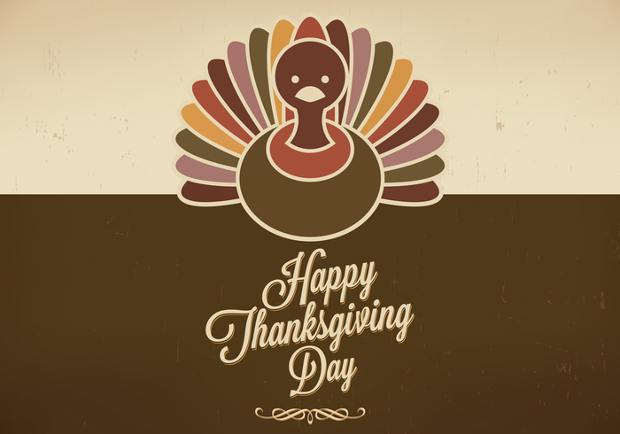 Grungy Thanksgiving achtergrond psd