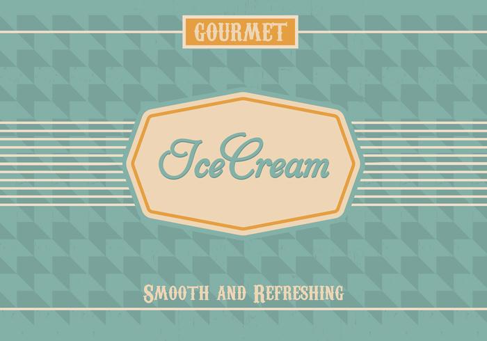 Vintage Ice Cream PSD Background