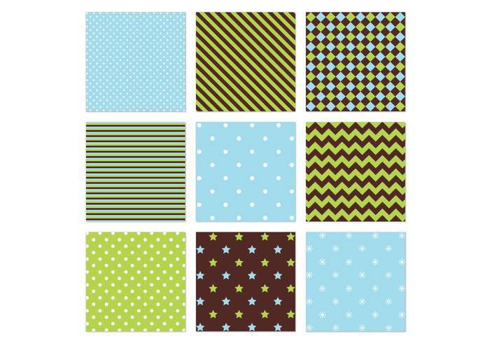 Blue Green Seamless Patterns