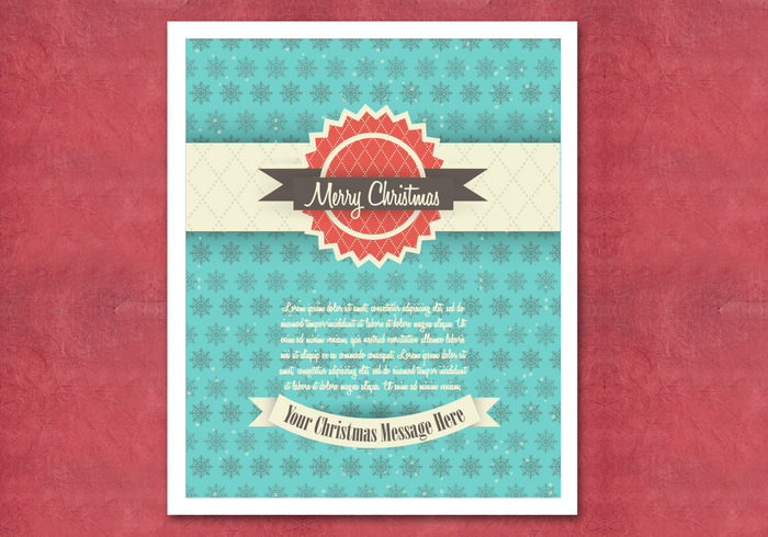Retro weihnachtskarte psd kostenlose photoshop pinsel for Photoshop weihnachtskarte