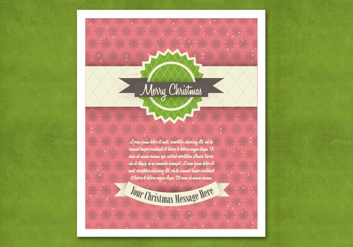 Retro Christmas Card PSD