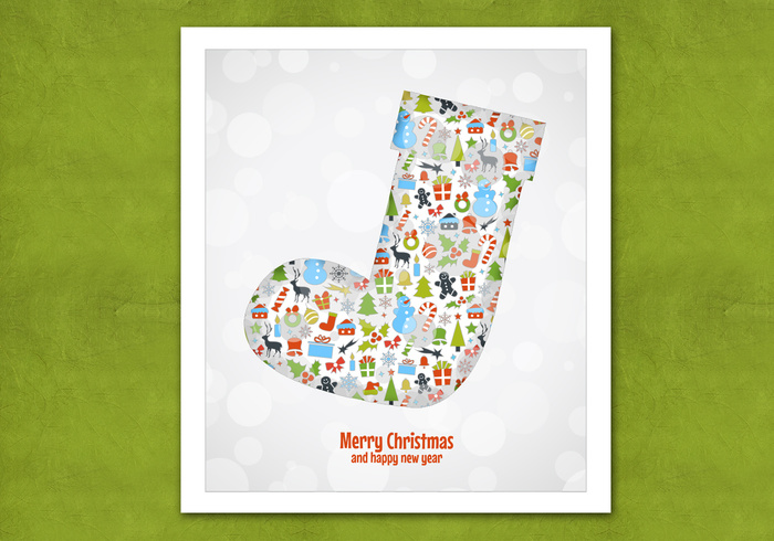 Bokeh Christmas Stocking PSD Background
