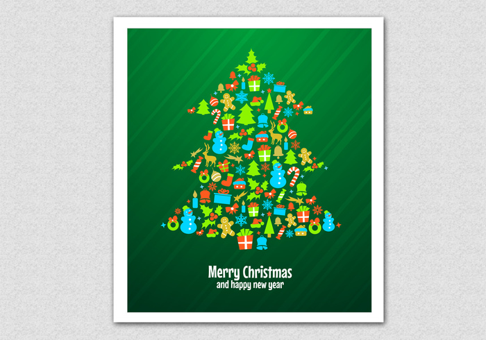 Green Christmas Tree PSD Background