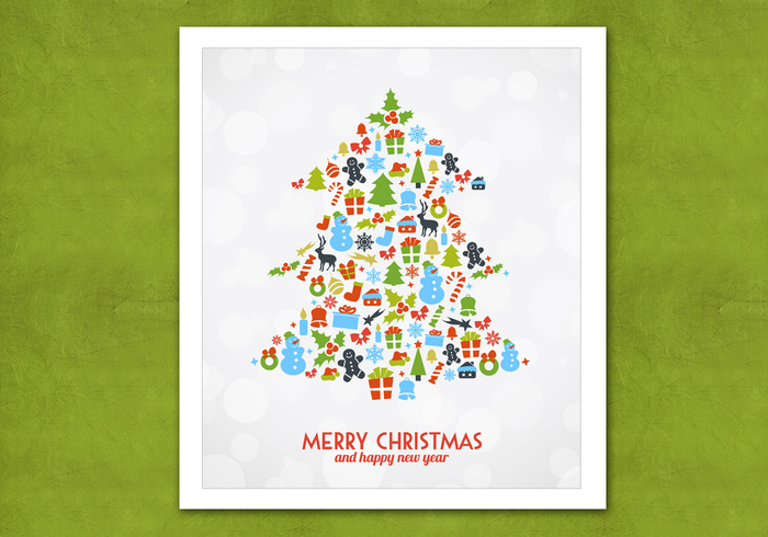 Bokeh Christmas Tree PSD Background
