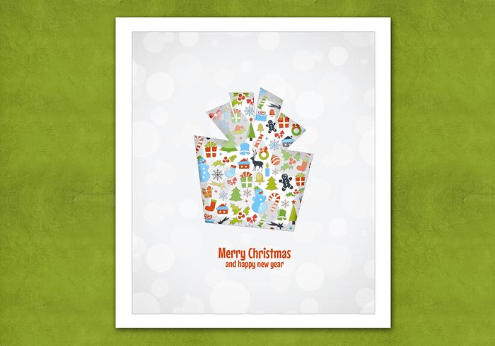 Bokeh Christmas Gift PSD Background