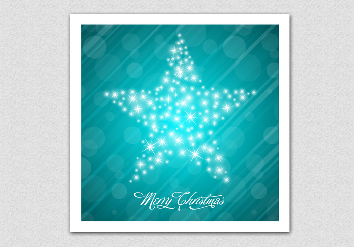 Sparkling Merry Christmas Star PSD Background