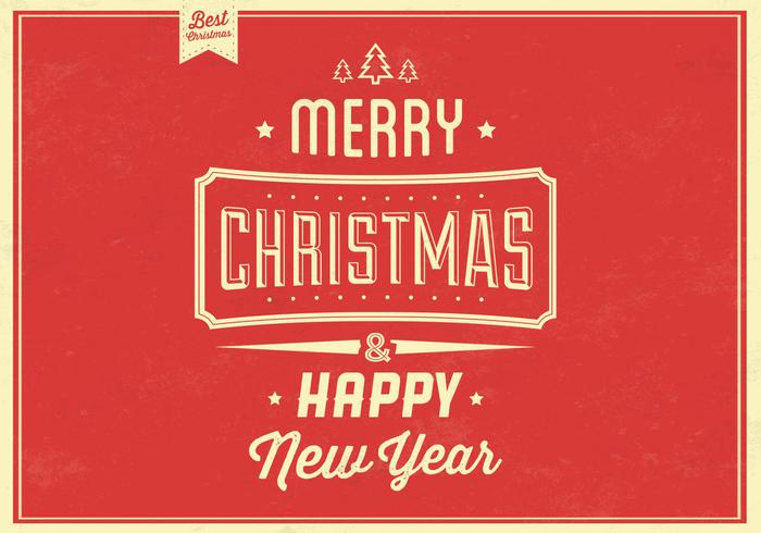 Retro Christmas PSD Background