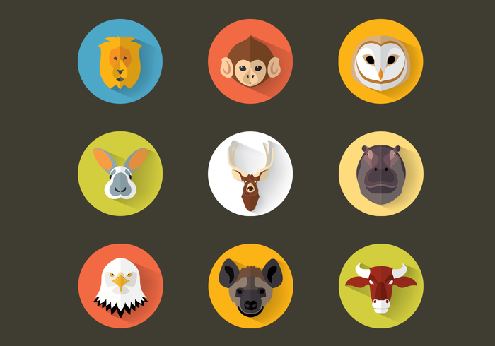 Flat Animal Icon Pack PSD