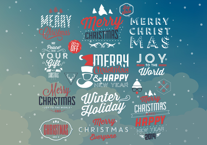 Hipster Christmas PSD Elements