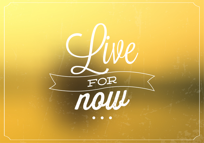 Live For Now Bokeh Background PSD