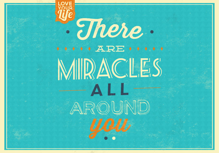 Miracles Quote PSD Background