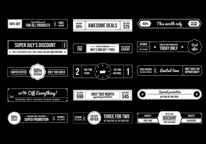 Retro Banners PSD Collection