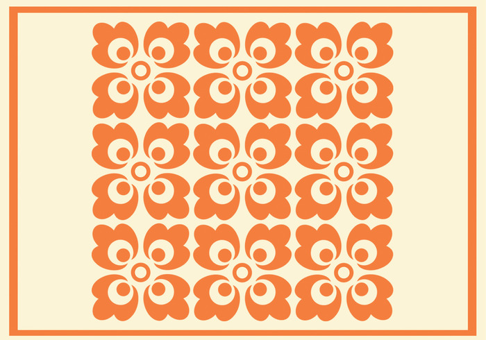 Orange Floral Photoshop Pattern