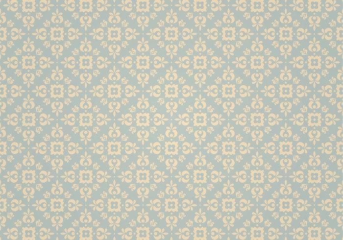 Blue Vintage Ornament Photoshop Pattern