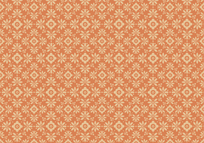 Tangerine Floral Photoshop Pattern