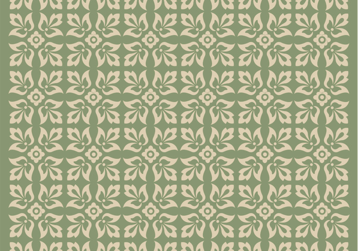 Green Ornament Photoshop Pattern