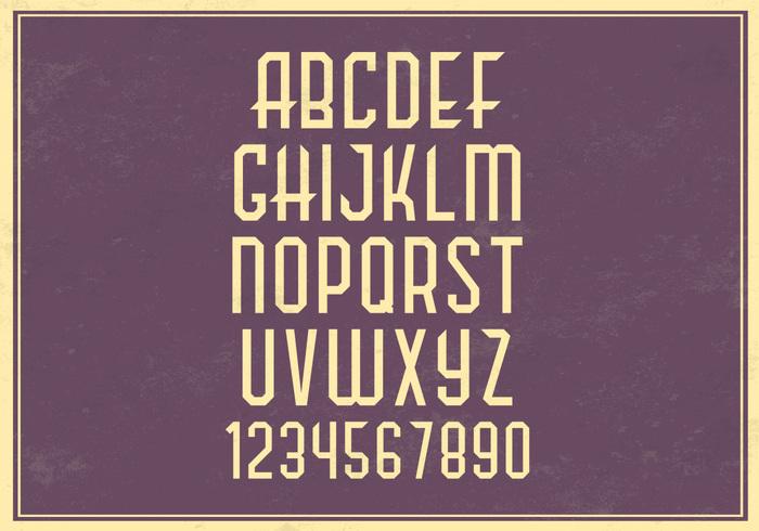 Retro Alphabet PSD Set
