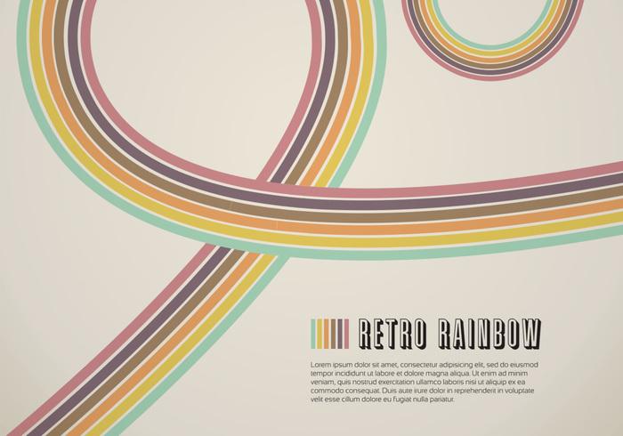Retro Rainbow Line PSD Background