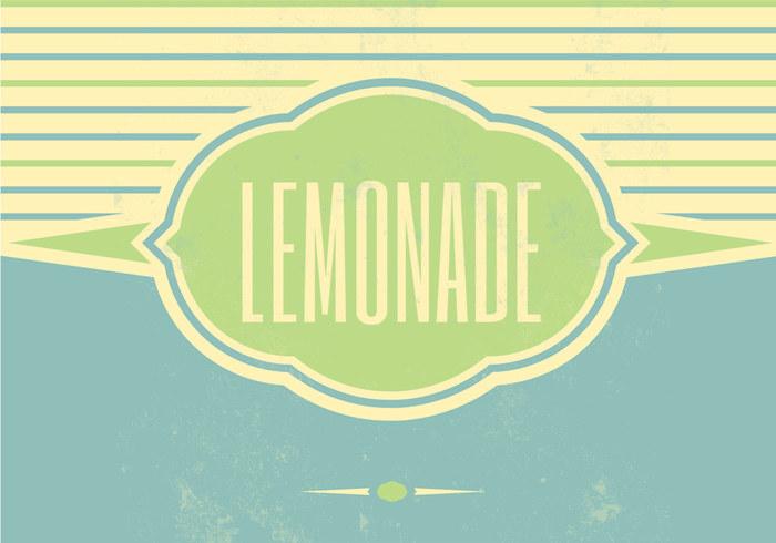 Retro Lemonade Vector Background
