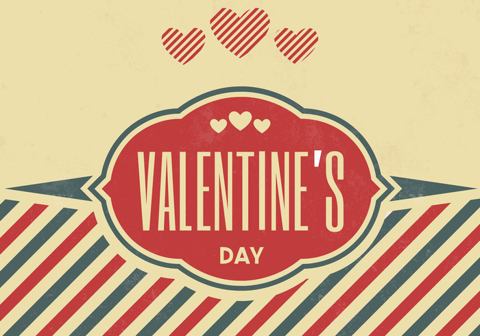 Vintage Valentine's Day PSD Background
