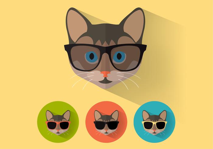 Wayfarer Sunglasses Cat Portraits PSD Set
