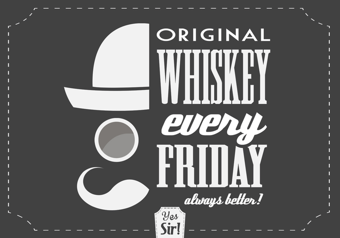 Hipster Whiskey PSD Background