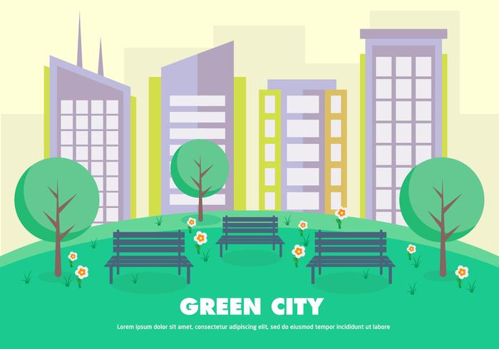 Plat groene stad psd