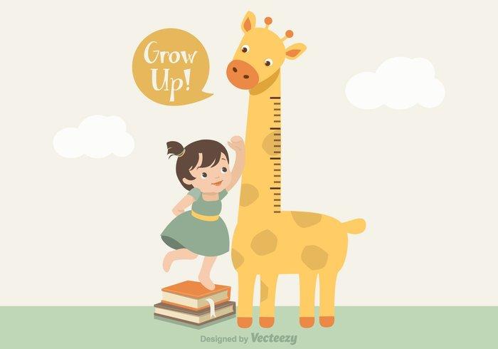 Giraffe Growth Chart PSD
