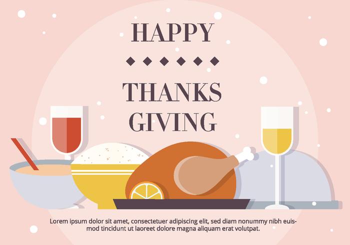 Blush Thanksgiving Vector Dinner