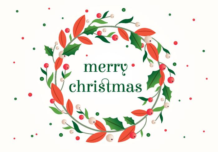 Kerstmis PSD-krans Illustratie