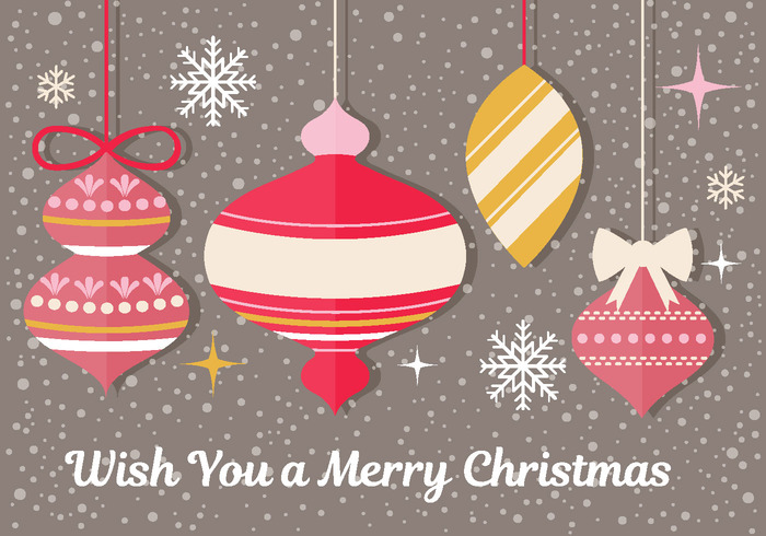 Christmas Ornament PSD Greeting Card