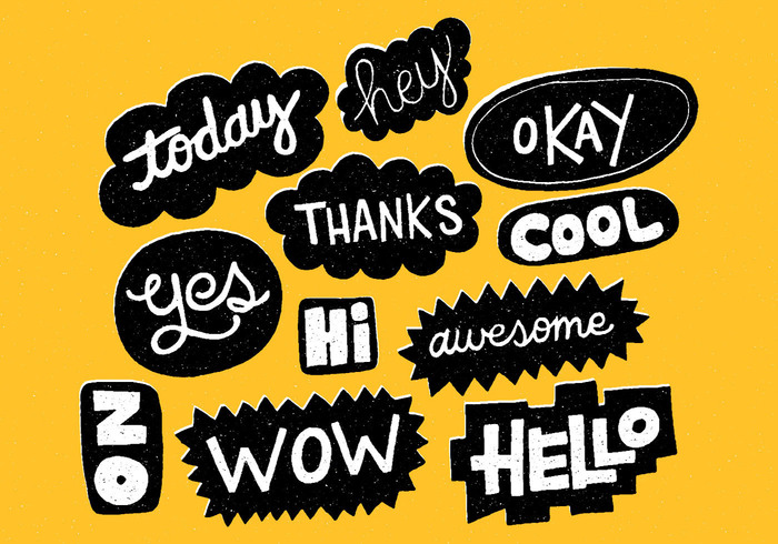 Hand Drawn Word Bubbles Brushes