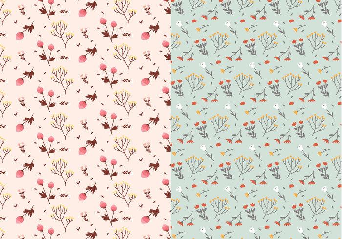 Pastellpflanzen Muster