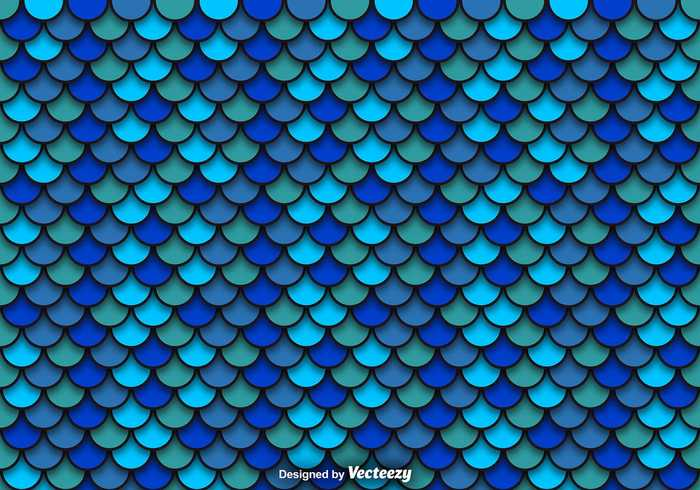PSD Blue Pattern Of Fish Scales
