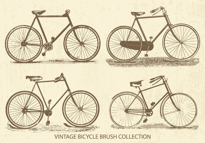 Vintage Bicycles Brush Collection