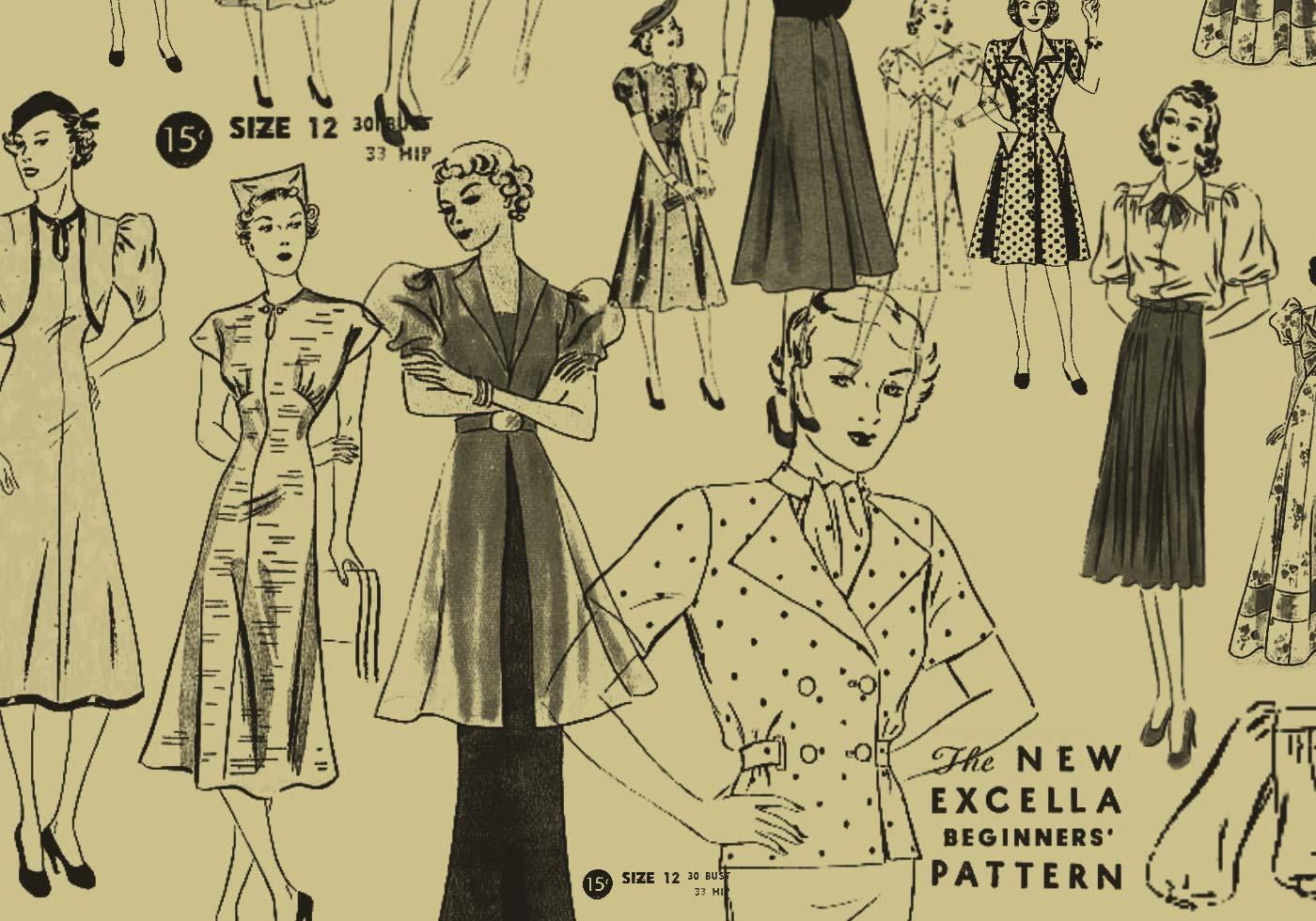 Vintage pattern girls free photoshop brushes at brusheezy
