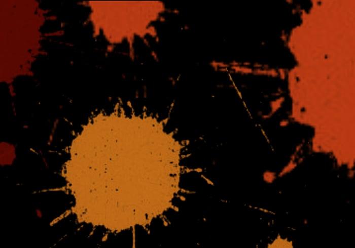 Oranje Verf Splatters