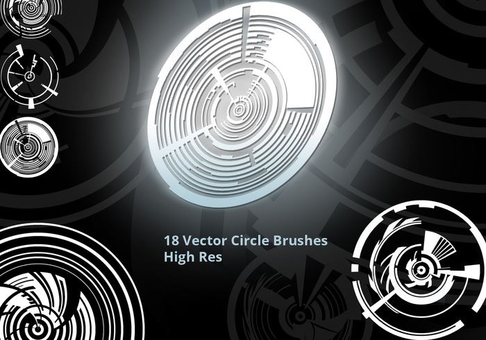 Vector Circles Brush Set