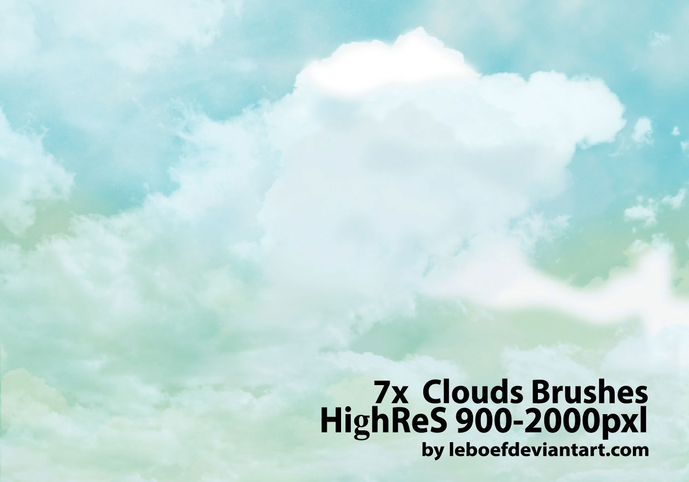 Clouds brushes photoshop free download