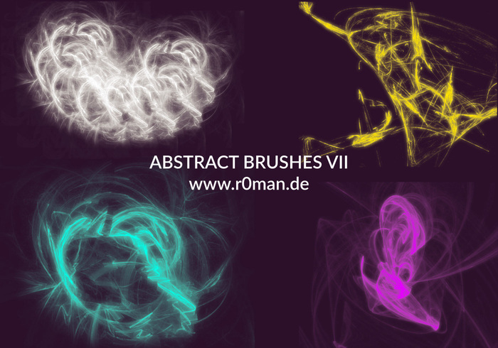 Abstrakt Brushset VII