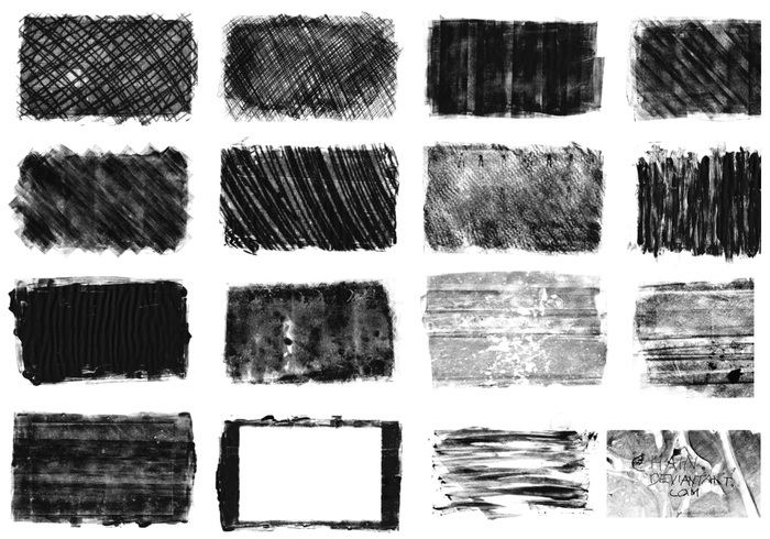 Monoprint texture brushes